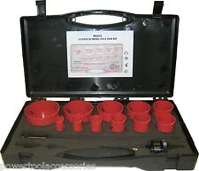 MTL 14 pc Deluxe Bi-Metal Holesaw Kit hole cutter set for Professional Tradesmen