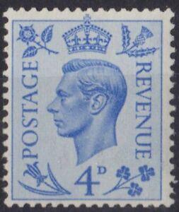 z5173) Great Britain. 1950/52. MNH. SG 508 4d  Light Ultramarine Royalty