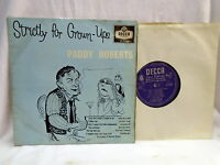"Paddy Roberts ""Strictly for Grown Ups"" 10"" Vinyl LP Decca LF 1322"