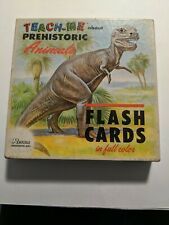 TEACH-ME ABOUT PREHISTORIC ANIMALS  Flash Cards - Renewal Products Inc - 1968