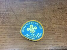 Vintage Cloth Patch Scout Badge Scouting Memorabilia Ards 75th Anniversary