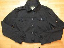 F-16C Teen Girls Size Large  Black Shorty Jacket