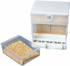 ✅ Mangiatoia Automatica per Mangime Cibo per Gabbia Uccelli Canarini in Plastica