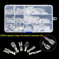 270PCS Electrical Wire Terminals Assortment Insulated Crimp Connectors Spade