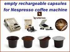 200 empty rechargeable capsules (2 boxes 100 p.) for Nespresso coffee machines