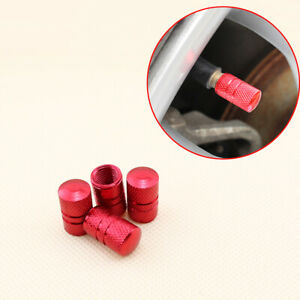 Car Accessories Wheels Tire Tyre Valve Cap Dust Air Cover 4Pcs Red (Universal)