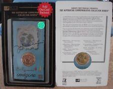 John Lennon 'IMAGINE' RARE 24K Gold Plated Commemorative Coin The Beatles NEW