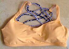 LULULEMON Free To Be Wild Bra Dash White Black Creamsicle Orange NWT Sz 12