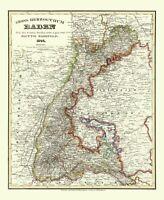 Baden Wurttemberg Germany - Radefeld 1860 - 23.00 x 28.08