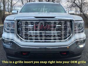 2016-2018 GMC Sierra SLT chrome mesh grille grill insert overlay (SLT ONLY)