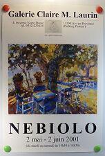 Affiche Art NEBIOLO expose Galerie Claire M. Laurin Aix en Provence /11PB