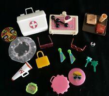 Vtg Barbie Accessories Lot Barbie Doll Fashion Earrings First Aid Kit Megaphone
