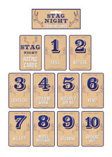 Stag Night Party Rating Cards Pk10