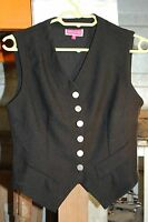 "gilet sans manche style barmaid   noir  marque ""JENNYFER"" taille 1 neuf"