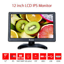 "EYOYO 1920*1080 12"" Camera Field PC Video LCD IPS Monitor Display VGA AV HDMI"