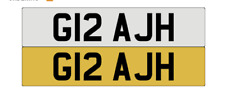 G12 AJH personal private cherished number plate ASH, AH,