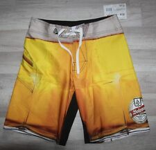 Original Short Bain VOLCOM Frothing Mod Bordshort Gold 30 US - 38 FR neuf