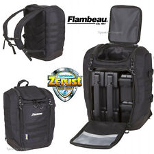 Flambeau Cargo Range Fishing Backpack Tackle Bag Zerust + Containers Black C50BP