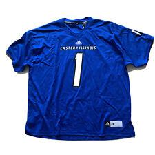 Adidas Men's Eastern Illinois Panthers #1 Blue Football Jersey Sz. 3XL NWT $75