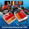 16 LED Submersible/Waterproof Stop Tail Lights Kit Boat Truck Trailer Lamp