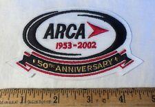 ARCA Racing Patch 50th Anniversary 1953 - 2002 NASCAR Auto Iron On