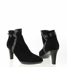 Women's Aquatalia Rae Shoes Black Suede Ankle Booties Size 9.5 M NEW! RTL $495