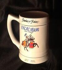 EXCALIBUR Hotel Casino Fantasy Faire Ceramic Mug Stein Emerald Collection