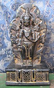 Antique Very Old Black Stone Chenrezig Avalokiteshvara Rupa, Nepal