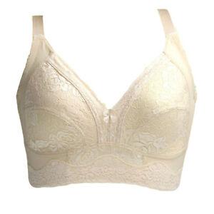 Women BRA Full Cup Support Underwear Lace Wireless Sexy Lingerie Plus Size A-G
