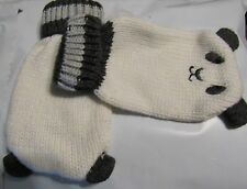 GYMBOREE ANIMAL PARTY IVORY FURRY WOLF SWEATER MITTENS 0 12 24 2T 3T NWT
