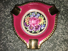 Schumann Barvaria EMPRESS ASHTRAY Vintage FLORAL Porcelain TRINKET DISH Germany