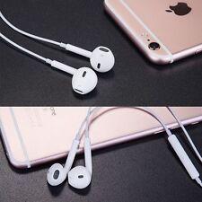 White Handsfree Earphone Wired Headset In Ear Headphone FOR Apple iphone 7 Plus