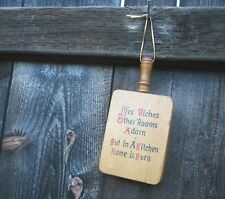 Trivet-Shape Motto Plaque Life's Riches Other Rooms Adorn But In A Kitchen Home