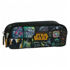Star Wars Double Pencil Pouch Case Yoda Darth Vader Stormtrooper Chewbacca
