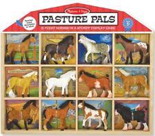 Melissa & Doug PASTURE PALS COLLECTABLE HORSES Pony 12 Pack Set Child/Kid BN