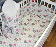 2/3/5 or 6 Piece Baby Bedding Set fit Cot 120x60cm or fit to Cot Bed 140x70