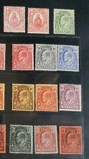 TURKS & CAICOS 1909 KE VII 1/4d to 3s SG 115 - 126 Sc 13 -24 wmk MCCA set 12 MLH