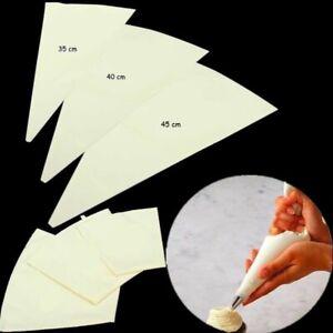 3tlg Spritzbeutel Set 35/40/45 cm Baumwolle Tortenspritze Torten Dekoration