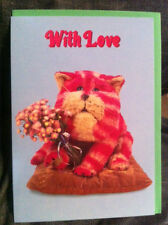 BN Bagpuss Card With Love with Bagpuss holding some flowers