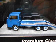VW Volkswagen Bus T2a T2 A Autotransporter blue blau Prem Classixxs 1:43