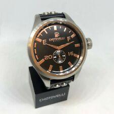 Chotovelli Men's Pilot Watch Automotive dial Black leather Strap 5405