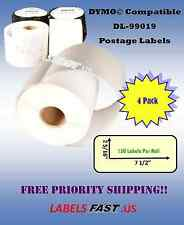 99019  Dymo® Compatible Postage Labels for eBay and Paypal 4 Rolls