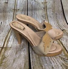 Vintage Bare Hugs Footnotes Made In Italy Women's 8 M High Heel Sandal Open Toe
