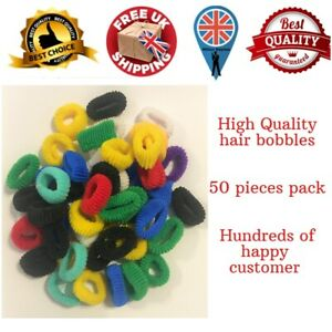 PACK OF 25 ASSORTED COLOURS GIRLS BABY TODDLER KIDS ELASTIC HAIR BAND BOBBLES UK