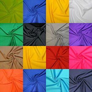 Dancewear Compatible Lycra Fabric 4 Way Stretch Spandex Material 14 Colours