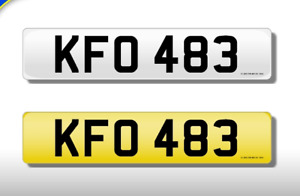 KFO 483 CHERISHED NUMBER PERSONAL PLATE