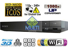 Sony S5500 All Region Free DVD & BD ZONE ABC Blu-Ray Disc Player USB 3D WIFI