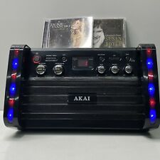 AKAI KS-213 CD+G KARAOKE Machine Party System AUX IN & A/V OUT Tested Works +