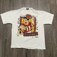 VINTAGE Washington Redskins Flintstones Shirt Mens XL Made USA Single Stitch 90s