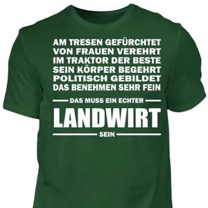 T-Shirt Echter Landwirt Traktor Geschenk Spruch Sprüche Bauer Spaß Fun